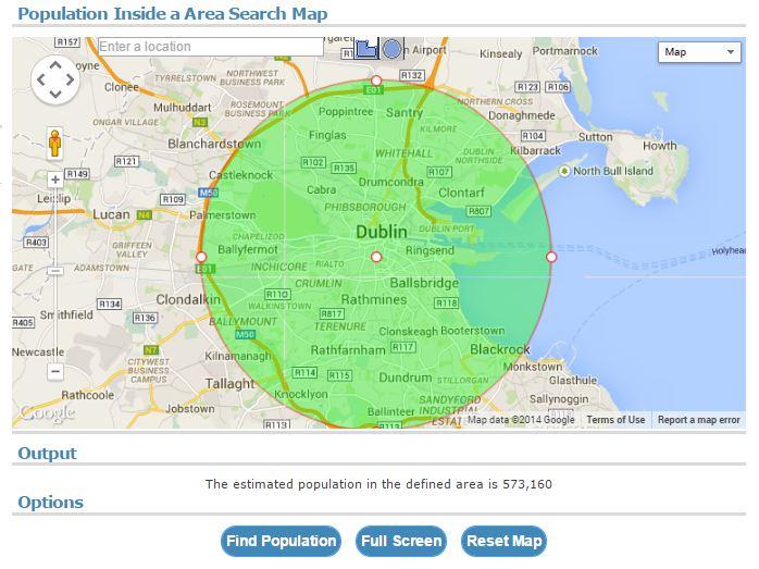 Ireland City Populations Population of Dublin Ireland
