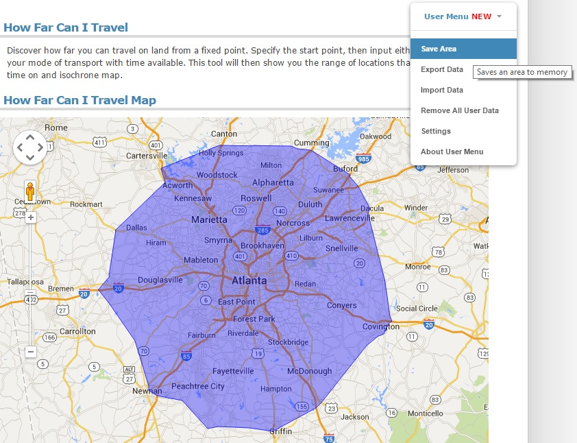 Driving Time Map Find Population Inside a Drive Time Radius | Free Map Tools Blog