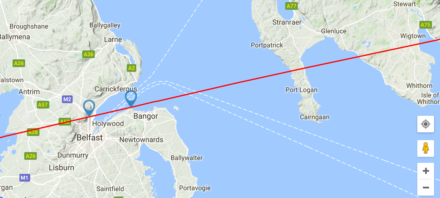 Direction Projection Example 1